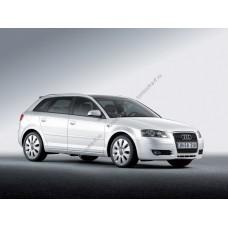 Силиконовая тонировка на статике для Audi A3 5d 2004-2012