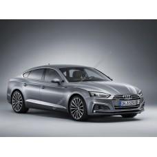 Силиконовая тонировка на статике для Audi A5 4 двери 2 поколение, хэтчбек, F5 (12.2016 - н.в.)
