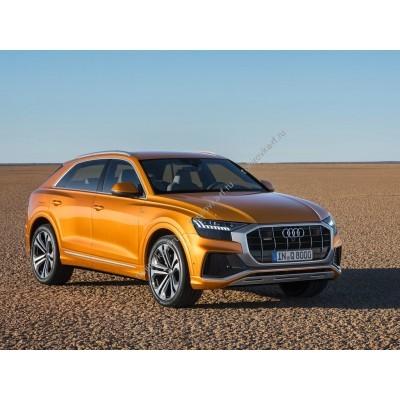 Купить силиконовую тонировку на статике для Audi Q8 2018, suv, 1 поколение (06.2018 - н.в.) можно в магазине Тонировка-РФ.ру