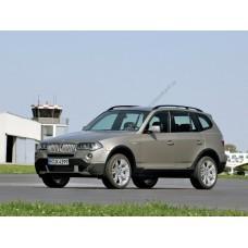 Силиконовая тонировка на статике для BMW X3 E83, 1 поколение, 2003-2010