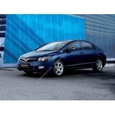 Силиконовая тонировка на статике для Honda Civik седан 2006-2012
