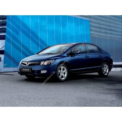 Купить силиконовую тонировку на статике для Honda Civic седан, 8 поколение, FD (2006-2011) можно в магазине Тонировка-РФ.ру