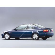Силиконовая тонировка на статике для Honda Civic купе 1991-1995