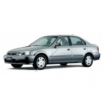 Купить силиконовую тонировку на статике для Honda civic - седан и хетчбек 5 дверей, 6 поколение 1997-2002 можно в магазине Тонировка-РФ.ру