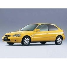 Силиконовая тонировка на статике для Honda Civic coupe 3d, 6 поколение 1996-2001