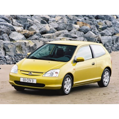 Купить силиконовую тонировку на статике для Honda civic coupe 3d, 7 поколение 2000-2006 можно в магазине Тонировка-РФ.ру