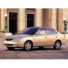 Силиконовая тонировка на статике для Hyundai Accent 2 поколение, седан 1999-2006
