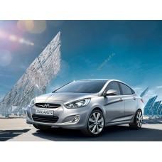 Силиконовая тонировка на статике для Hyundai Solaris 2011-2017