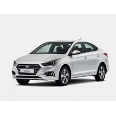 Силиконовая тонировка на статике для Hyundai Solaris 2017-н.в.