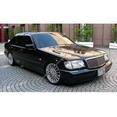 Силиконовая тонировка на статике для Mercedes S W140 1991-1998