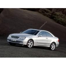Силиконовая тонировка на статике для Mercedes CLK-Class купе, 2 поколение, C209 (2002 - 2009)