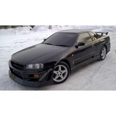 Силиконовая тонировка на статике для Nissan Skyline ER34 coupe 1998-2001