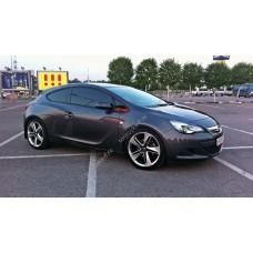 Силиконовая тонировка на статике для Opel Astra J купе 2010-н.в.