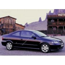 Силиконовая тонировка на статике для Opel Astra coupe 2000-2005