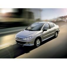 Силиконовая тонировка на статике для Peugeot 206 1 поколение, седан (1998-2009)