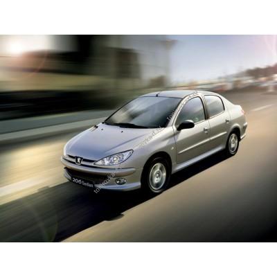 Купить силиконовую тонировку на статике для Peugeot 206 1 поколение, седан (1998-2009) можно в магазине Тонировка-РФ.ру