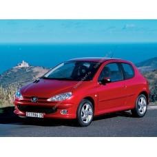 Силиконовая тонировка на статике для Peogeot 206 Coupe 3d 1 поколение 1998-2009