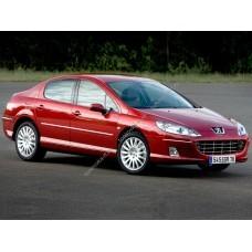 Силиконовая тонировка на статике для Peugeot 407 седан 1 поколение 2004-2010