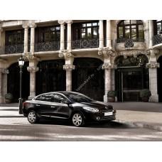 Силиконовая тонировка на статике для Renault Flyuens 1 поколение 2009-2013