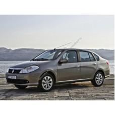 Силиконовая тонировка на статике для Renault Symbol, 2 поколение 2008-2012